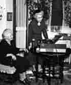 Helen Hartness Flanders recording Phyllis Burditt of Springfield, Vermont.