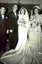 Virginia Hyink & John Phillip Burnham at their wedding in 1948.