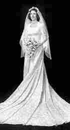 Jean Epstein Wolkoff in her wedding dress in 1947.