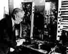 Frank Conrad testing radio equipment in the 1930s