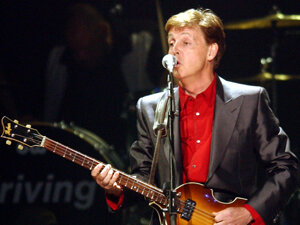 Paul McCartney Performs In Las Vegas As Part Of His Driving USA Tour Frank Micelotta Getty Images Hide Caption