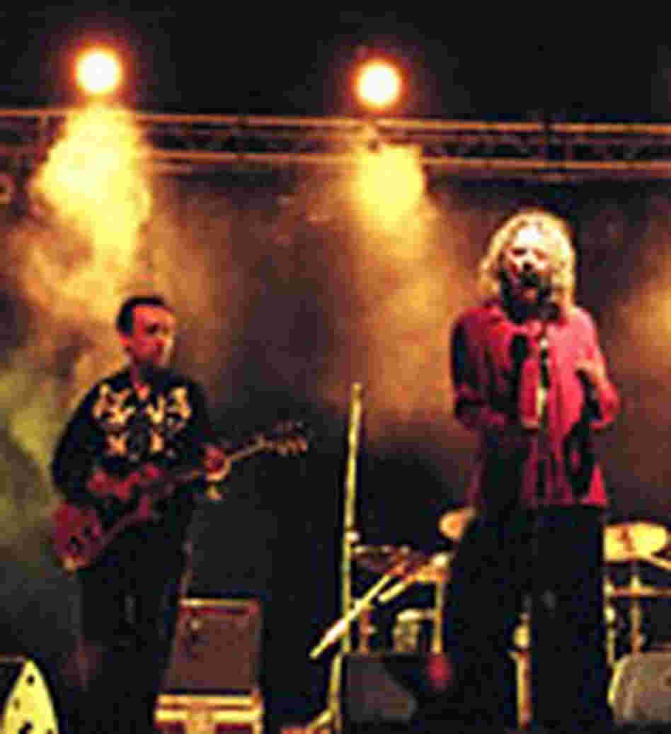 Robert Plant performs with guitarist Justin Adams at the 2003 festival.