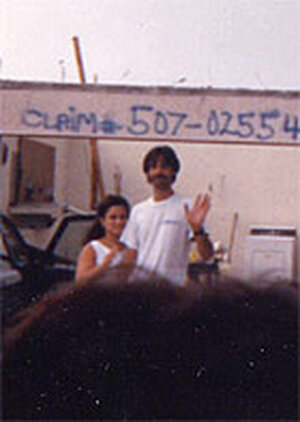 Photo of couple who donated supplies after Hurricane Andrew hit South Florida
