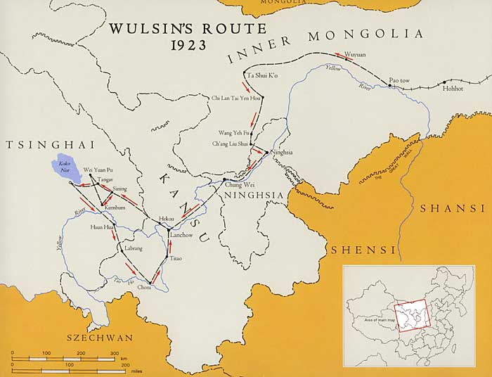 Map of the Wulsin's 1923 Journey.