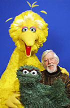 Big Bird, Oscar and Caroll Spinney