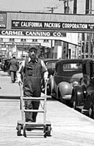 Cannery worker Hank Damewood on Cannery Row