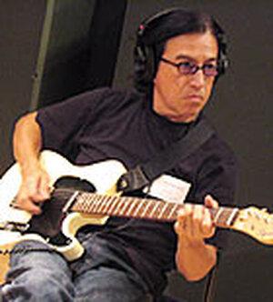 Band member Louie Perez, in the studio.