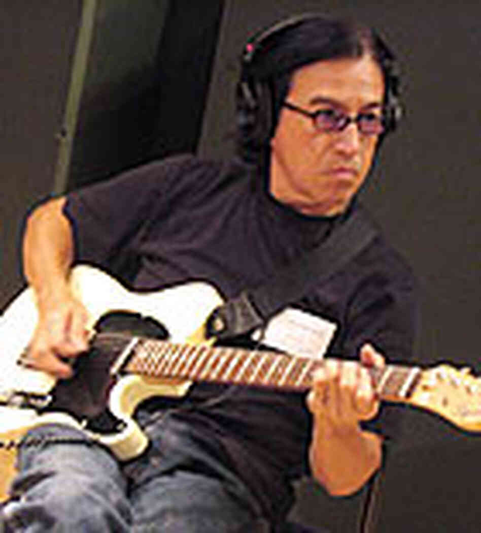Band member Louie Perez, in the studio.