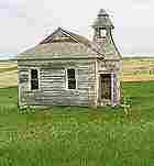 An abandoned schoolhouse