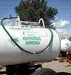 Anhydrous ammonia, a popular farm fertilizer, sits in tanks in rural North Dakota