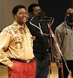 Joseph Shabalala, left, perfor