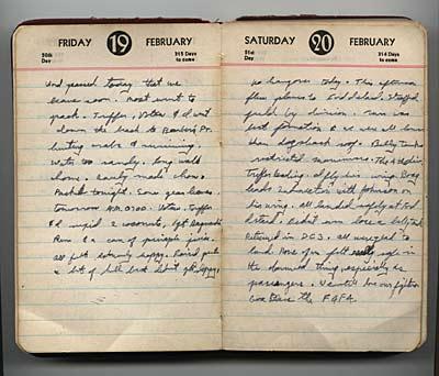 Feb. 19-20, 1943, diary entries