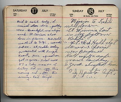 July 17-18, 1943, diary entries