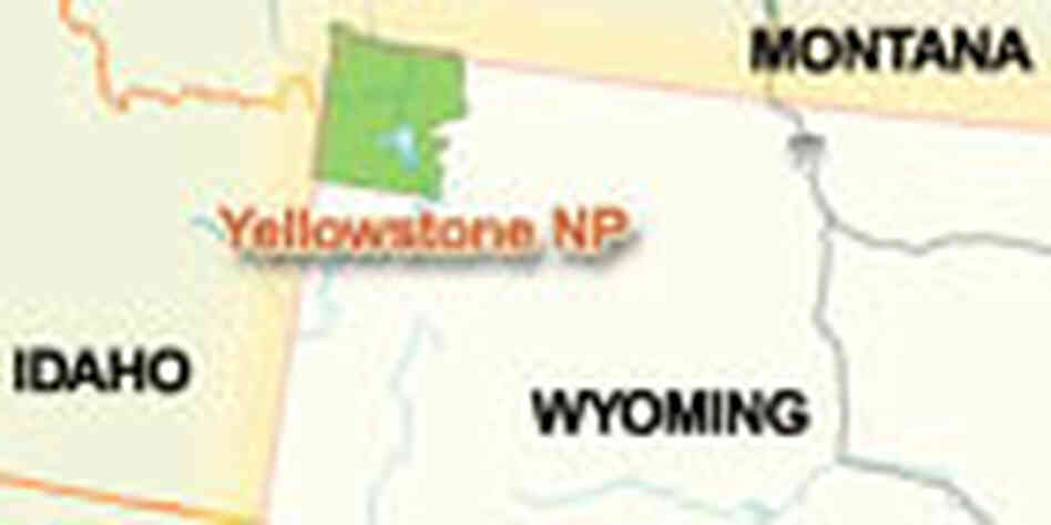 Yellowstone National Park location map.