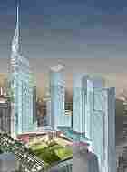A rendering of Libeskind's master plan for the World Trade Center site.
