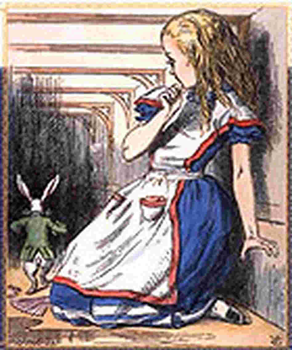 Detail from the cover of 'Alice in Wonderland'