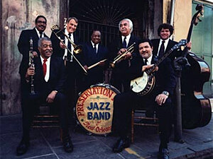 Members of the Preservation Hall Jazz Band.