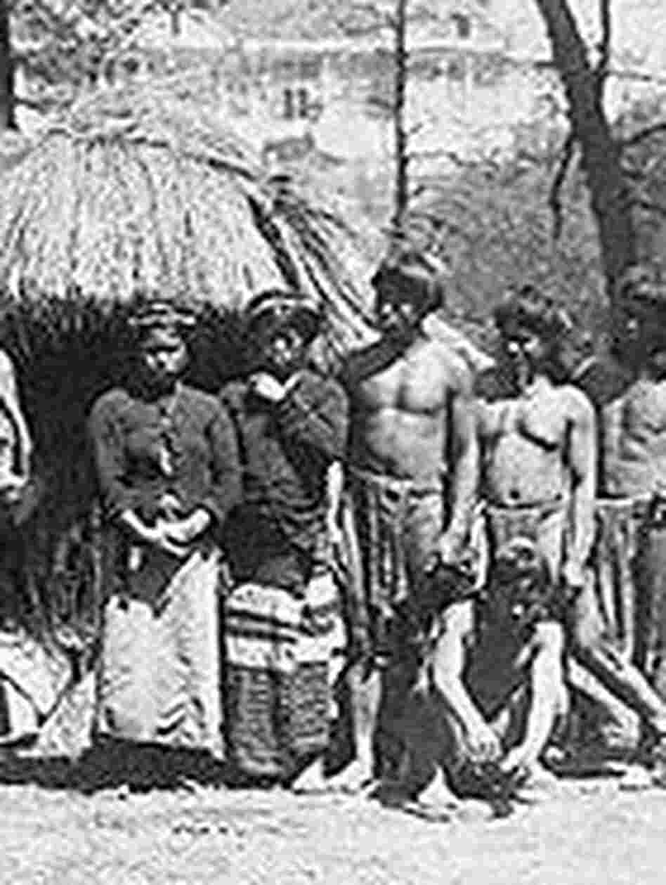 A group of Igorot villagers from the Philippines on display at the St. Louis World's Fair of 1904.