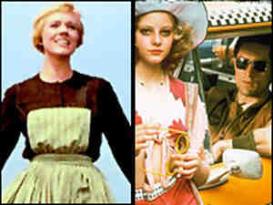 Sound of Music; Taxi Driver. Credit: 20th Century Fox, Columbia/Tristar