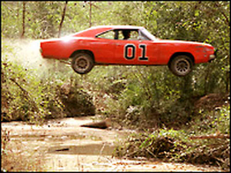 The General Lee sails over a stream. Credit: Van Redin.