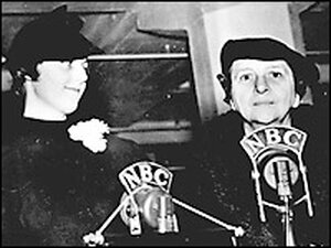 Frances Perkins at a SSA event. Credit: Social Security Administration History Archives.