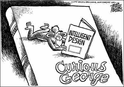 Peters-Curious. Credit: Mike Peters, Dayton Daily News.