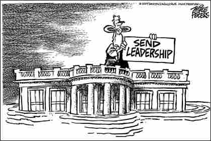 Peters-White House. Credit: Mike Peters, Dayton Daily News.