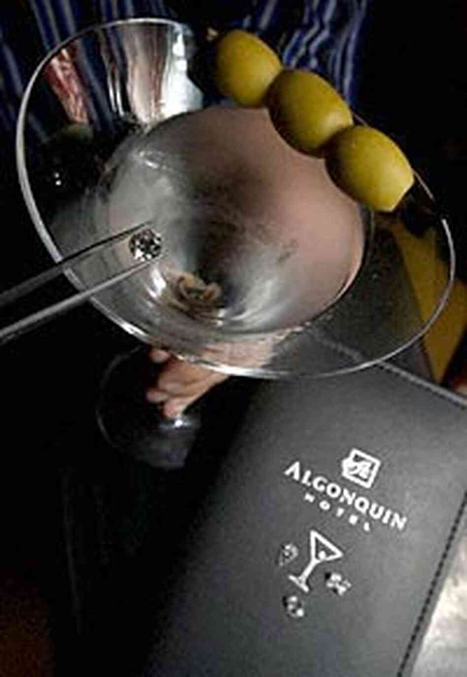 Approximately $150,000 worth of diamonds await a special martini at the Algonquin H