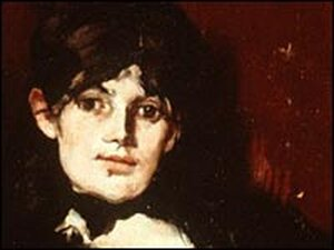 'Portrait of Berthe Morisot' by Edouard Manet