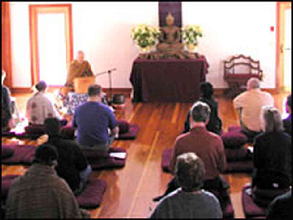 A meditation class at the Barre Center for Buddhist Studies.