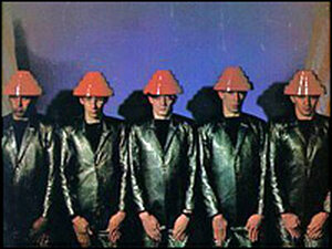 The cover for Devo's 'Freedom Of Choice', of 1980.