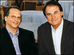 Buzz Bissinger, left, had near-total access to Tony La Russa and his St. Louis Cardinals.
