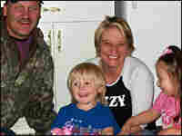 Kenneth Eicholz and his wife Christie, son Hunter and daughter