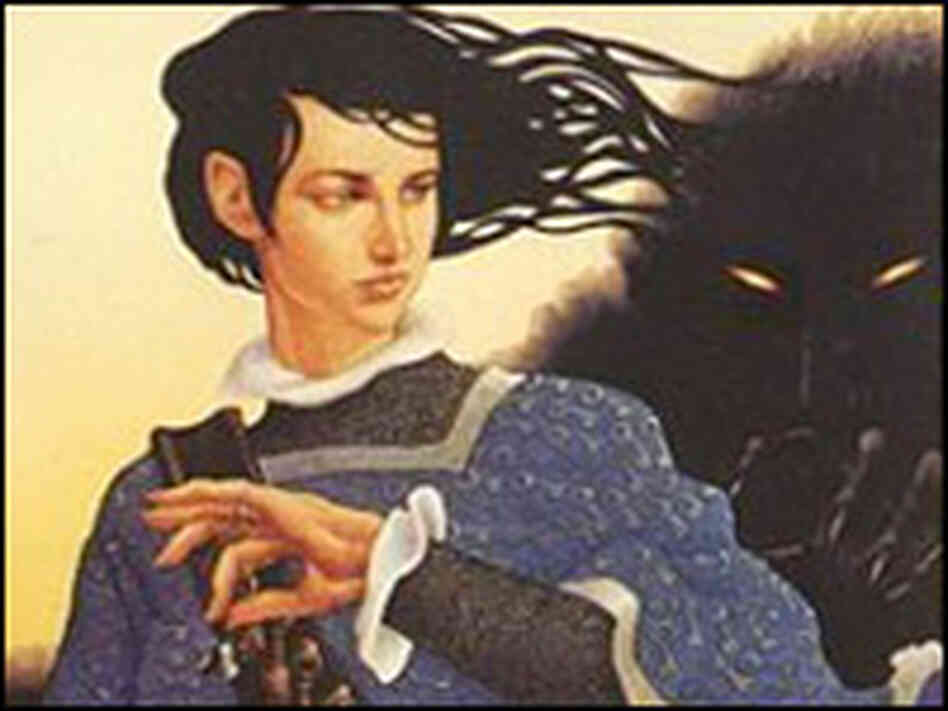 Detail from the cover of 'Sabriel', by Garth Nix, illustrated by Leo and Diane Dillon.