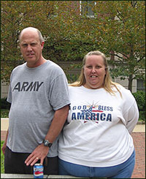 Steve Cobb and his wife, Natalie.