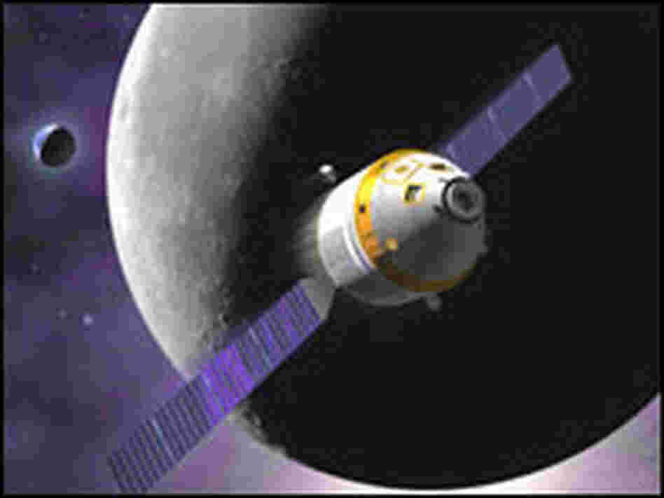 Artist's concept of Northrop Grumman-Boeing's proposed space vehicle.