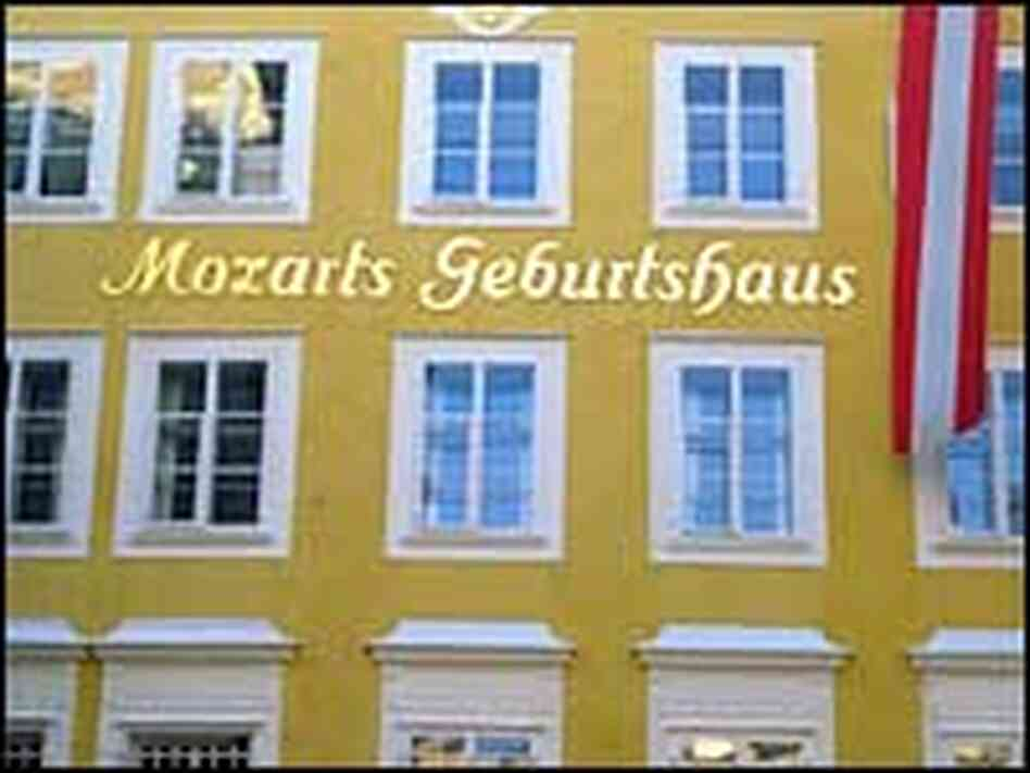 Mozart's birthplace is among the composer-themed attractions in Salzburg.