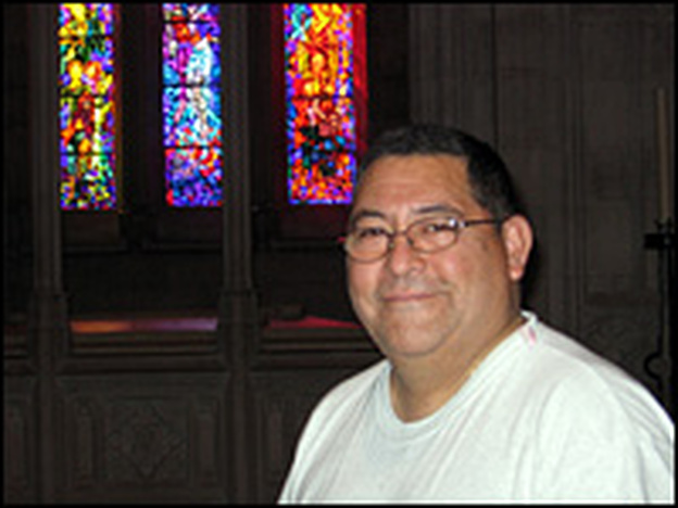 Edwin Cardenas, preservation technician at the Washington National Cathedral