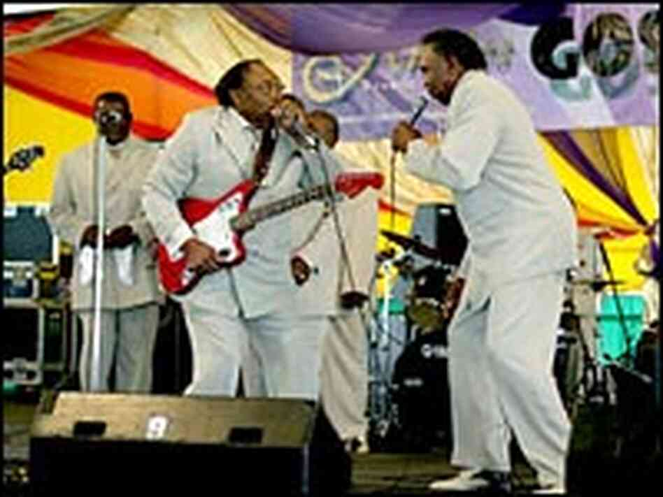 The Rocks of Harmony perform in the Gospel Tent at the 2005 New Orleans Jazz & Heritage Festival.