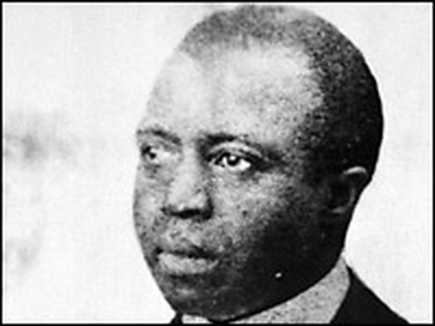 American composer and pianist Scott Joplin (1868 - 1917) was famous for 'Ragtime' music.