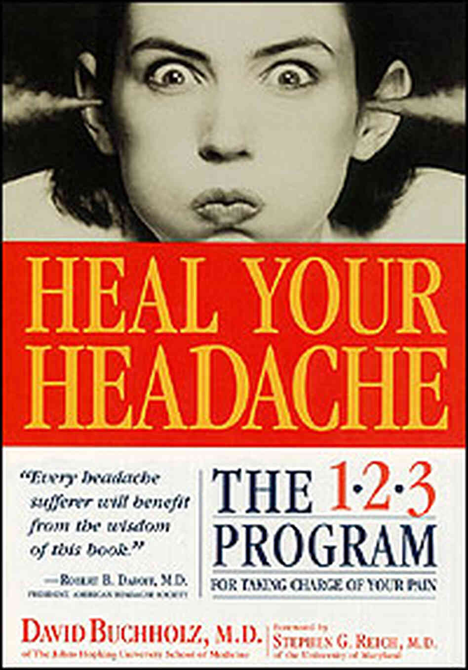 Cover from David Buchholz' book, Heal Your Headache