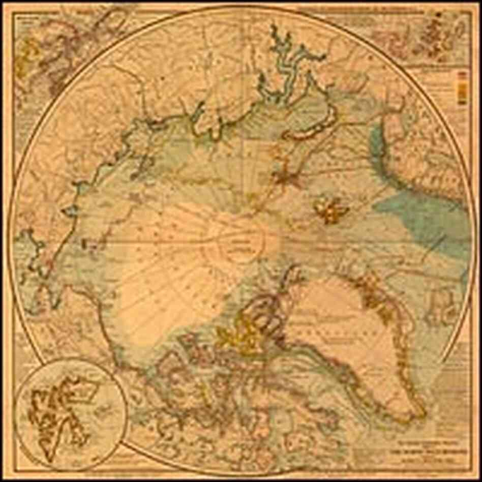 1907 map of the North Pole Region
