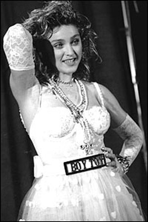 Madonna poses at the MTV Video Music Awards on Sept. 14, 1984.