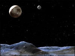 An illustration of Pluto. Credit: NASA, ESA and G. Bacon.
