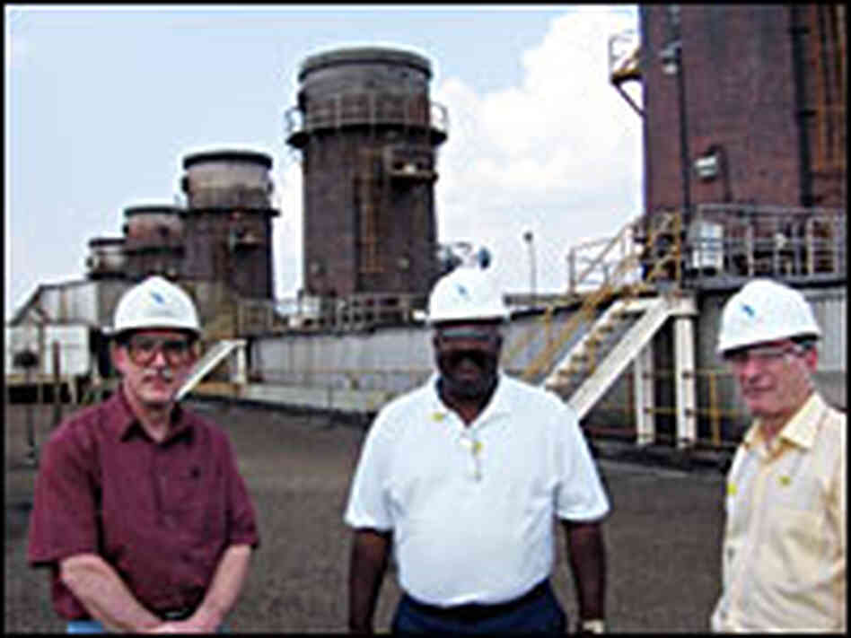 Mirant employees (from left) Raymond Schlicht, Willie Davis and Bob Driscoll