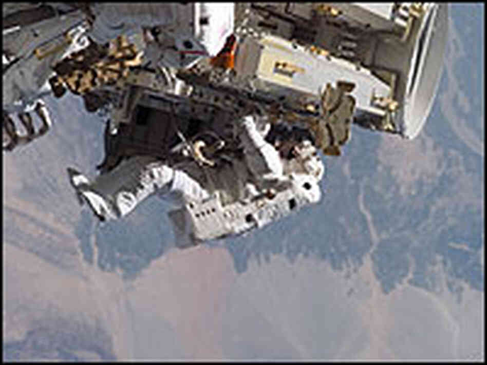 Astronaut Heidemarie Stefanyshyn-Piper on a 2006 spacewalk