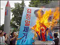 South Koreans protest the North Korean missile tests. Credit: KIM JAE-HWAN/AFP/Getty Images.