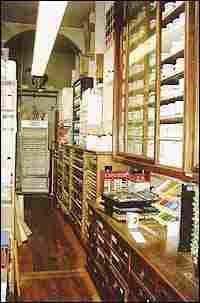 Interior of Sennelier store