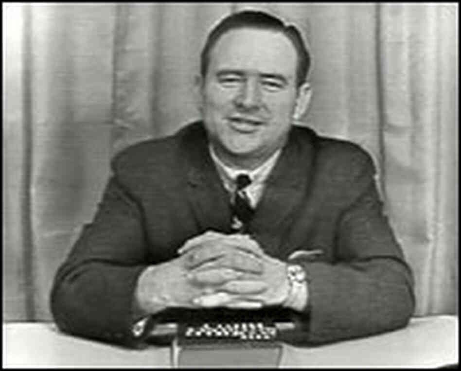 The Rev. Jerry Falwell on the 'Old Time Gospel Hour' in 1967.