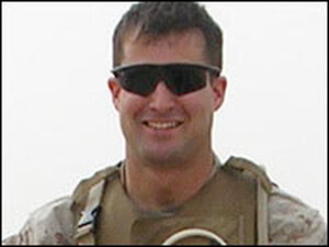 Marine Lt. Seth Moulton in Iraq in the spring of 2005.